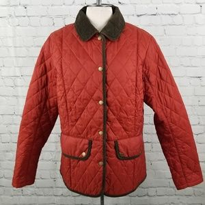 BARBOUR | quilted jacket with corduroy accents